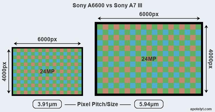 So sánh A6600 với A7 Mark III